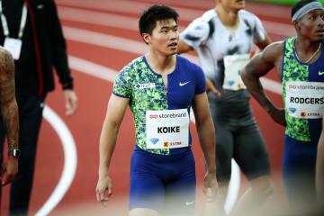 男子100メートルで5位だった小池祐貴=オスロ(AP=共同)