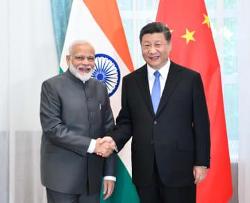 習近平主席、インド首相と会見 協力の開拓で一致