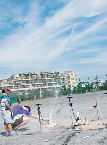 ペットボトル水ロケット制作と飛翔コンテスト【一般参加者募集6月30日締め切り】
