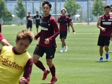 スピードをいかした攻撃参加を武器に、各年代の日本代表で実績を持つ藤谷壮。神戸生え抜きの「右の翼」への期待は高い(写真:ラジオ関西)