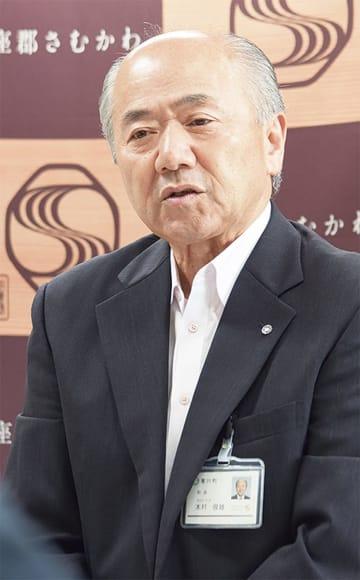 記者会見で表明した木村氏