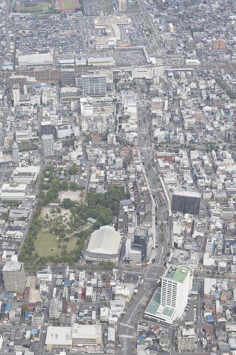 経済発展を遂げる大垣市の中心市街地