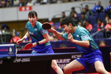 張本智和、早田ひな組が準決勝進出 卓球ジャパンOP