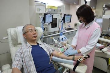 継続的な献血を呼び掛けている「はまのまち」=長崎市