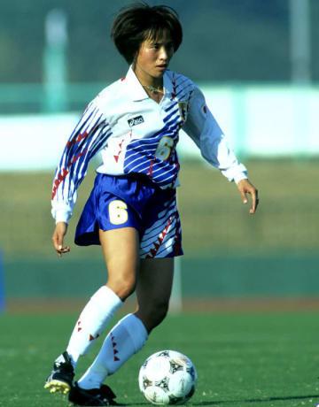 1994年10月6日第12回アジア大会チャイニーズタイペイ戦の高倉麻子選手