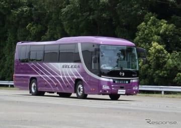 ドライバーの緊急時に自動停止するバス(セレガ)
