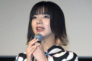 映画「貞子」の大ヒット御礼舞台あいさつに登場した池田エライザさん