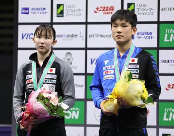 張本智和、早田ひな組が準優勝 卓球ジャパンOP