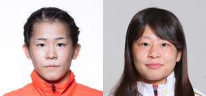 奥野春菜(左)と向田真優