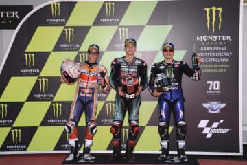 クアルタラロ、手術後のポール獲得に「いいタイム」と満足/MotoGP第7戦カタルーニャGP 予選トップ3コメント