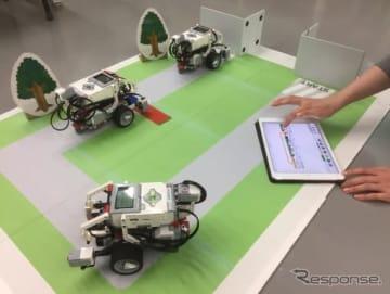 自動運転ロボットを走らせる