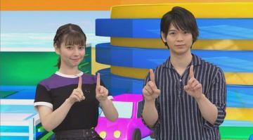 「アニゲー☆イレブン!」の第191回に登場するLynnさん(左)と土岐隼一さん=BS11提供