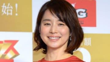 スポーツくじ「ボーナスBIG」の新CM発表会に登場した石田ゆり子さん