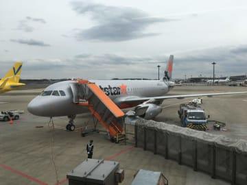 成田空港。第三ターミナルにあるため少し歩く