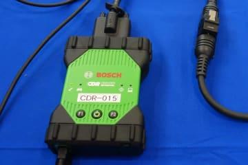 ボッシュの事故車両のデータ読み出し・解析装置CDR(クラッシュ・データ・リトリーバル)