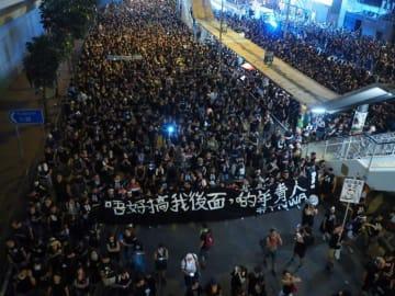 香港の反対デモは前代未聞の規模に、黒色の服で約200万人参加―米メディア 画像