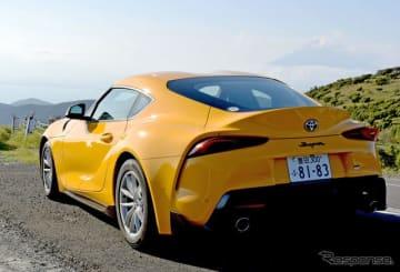 トヨタ スープラ SZ プロトタイプ。当日集められていた各車体色の中で一番アドレナリンが強そうなのは断然この黄色だった。