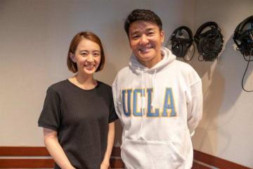 田中理恵さん(左)とパーソナリティの丸山茂樹