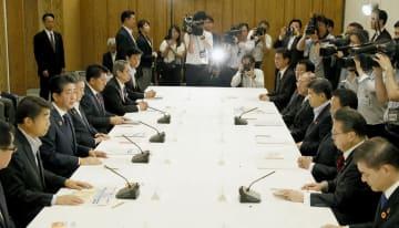 認知症対策の新大綱を決定した関係閣僚会議=18日午前、首相官邸