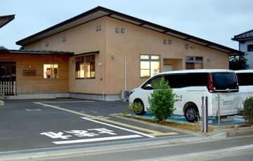 事故が起きた障害者施設「コスモス・アース」=2017年8月10日午後、上尾市戸崎