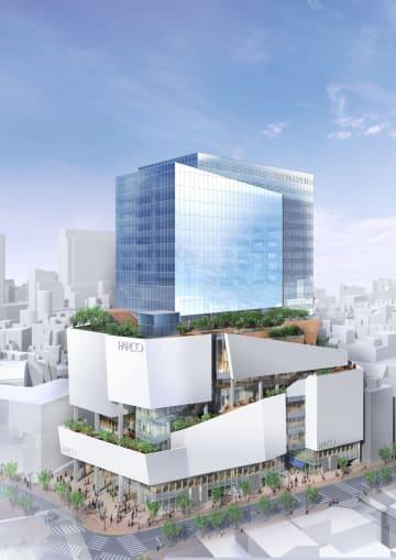 新しい渋谷パルコの外観イメージ(竹中工務店提供)
