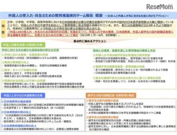 外国人の受入れ・共生のための教育推進検討チーム報告(概要)