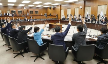 児童虐待防止法と児童福祉法の改正案を全会一致で可決した参院厚労委=18日午後