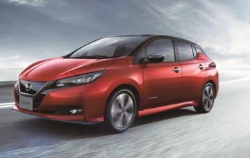 日産が普及を目指す新型EV「リーフe+」(画像は日産自動車の発表資料より)