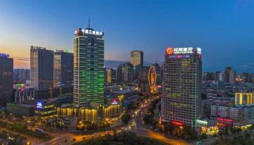 空から見た瀋陽金融商業貿易開発区 遼寧省