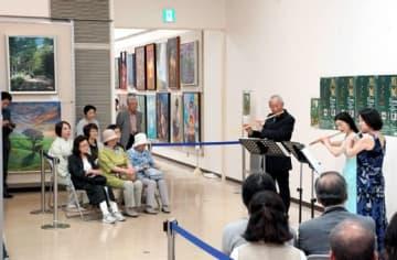 県展会場にフルートの音色が流れたコンサート