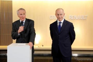 ルノーのボロレ氏(向かって右)とスナール氏