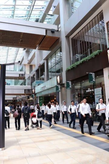 通行量トップだった仙台駅の東西自由通路