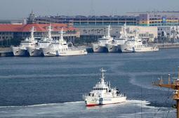 G20の海上警備本部全体会議のために全国から集まった巡視船や巡視艇=神戸市中央区(撮影・鈴木雅之)