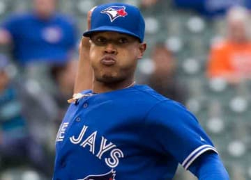 Description: English: Marcus Stroman on September 30, 2015 Date 30 September 2015 Source https://www.flickr.com/photos/keithallison/21824274246/ Author Keith Allison