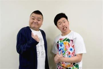 7月の熊本公演に向けて「豪華メンバーで盛り上げたい」と意気込む吉本新喜劇の川畑泰史(左)と吉田裕=熊本市中央区
