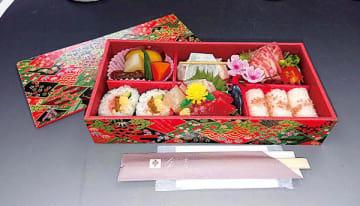 ▲主婦層の集まりでよく選ばれる会食向けの仕出し弁当・1,600円(税別)