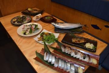 新店で提供される金華サバを使った料理