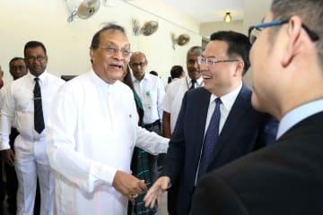 中国政府、スリランカ議会にセキュリティー装置を寄贈