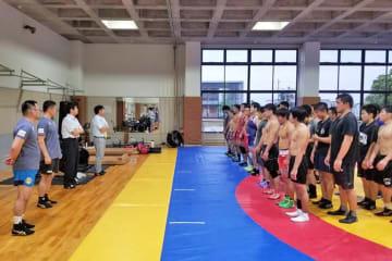▲アジア・ジュニア選手権の日本代表を含めた全日本合宿がスタート
