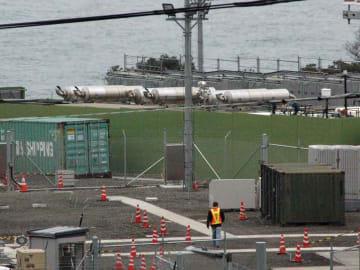 関西で唯一の米軍基地、米軍経ケ岬通信所(京都府京丹後市、2015年撮影)。Xバンドレーダーが日本海沿いに配備されている。