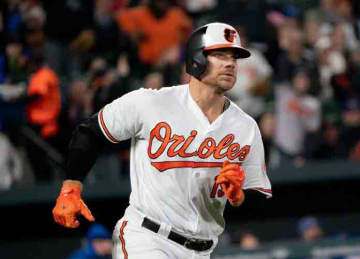 Description: Blue Jays at Orioles 4/11/18 Date: 11 April 2018, 20:11 Source: Chris Davis Author: Keith Allison from Hanover, MD, USA (Wikipedia)