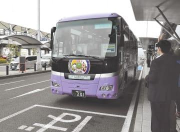 仙台空港を出発するエアポートライナーの第1便