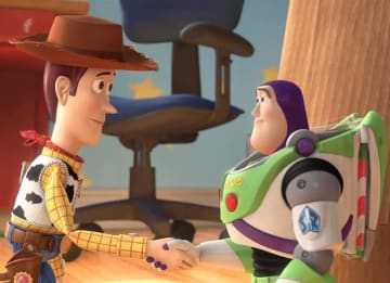 Woody and Buzz in 'Toy Story 3'