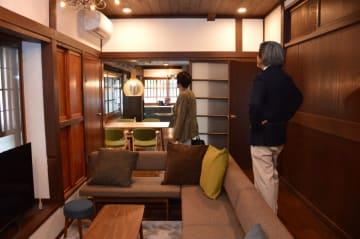 宿泊施設に改修された「飯塚邸」=22日午後、那珂川町馬頭