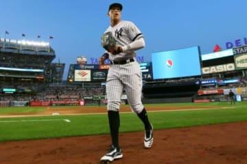 アストロズ戦に先発出場したヤンキースのアーロン・ジャッジ【写真:Getty Images】