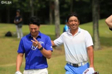 石川遼の優勝に伊澤利光(右)も太鼓判を押した(撮影:ALBA)