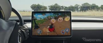 テスラの車載ディスプレイでプレイできるゲームの最新作「ビーチバギーレーシング2」