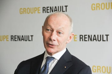 Groupe Renault Chief Executive Thierry Bollore speaking in New Delhi.