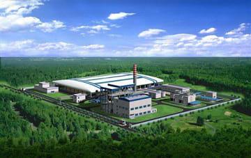 アウラグリーンエナジーがインドネシアで建設を予定しているバイオマス発電所の完成予想図(同社提供)