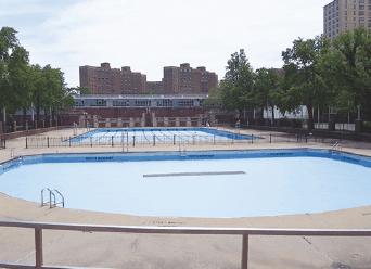 Hamilton Fish Pool 128 Pitt St. プール数: 2 (50 x 30 x 1m, 20 x 30 x 0.7m)